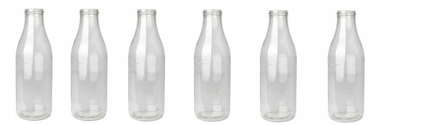 Handige melkflessen met metalen schroefdeksel